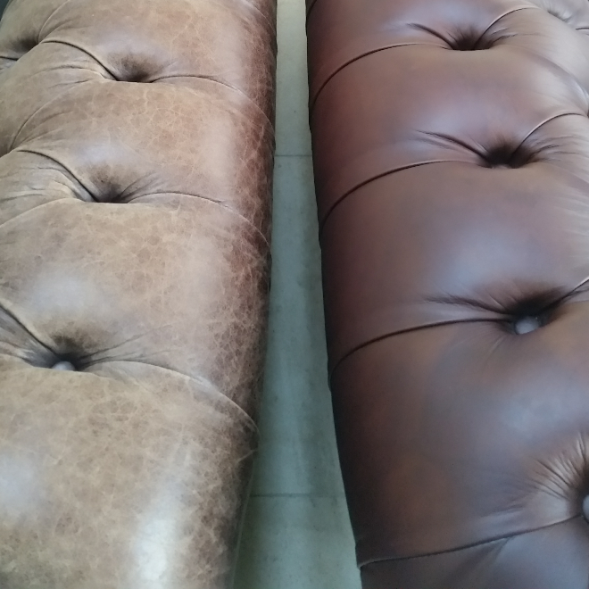 2 tone chesterfield before and after