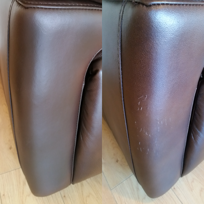 cat scratches on sofa repair before and after